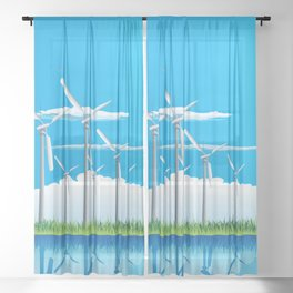 Wind Farm Sheer Curtain
