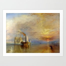The Fighting Temeraire by J. M. W. Turner (1838) Art Print