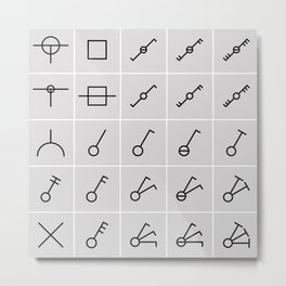 icons switches, electrical symbols Metal Print