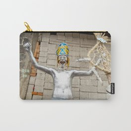 The silver aztec Carry-All Pouch