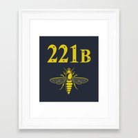 221b Framed Art Prints featuring 221B(ee) by sirwatson
