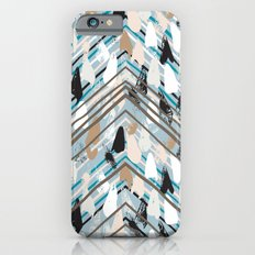Chevron print with colorful stripes and lines Slim Case iPhone 6s