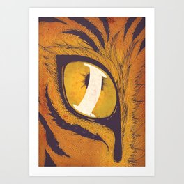 """I"" of the Tiger Art Print"