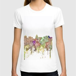 Madison, Wisconson Skyline - Faded Glory T-shirt