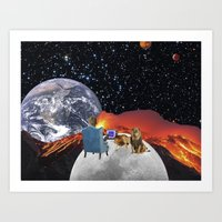 Out There Art Print
