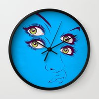randy c Wall Clocks featuring C. by CranioDsgn
