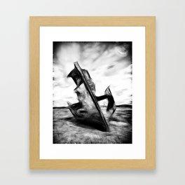 Ghostly Wreck Framed Art Print
