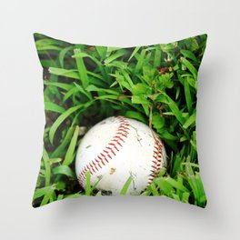 The Lost Baseball Throw Pillow