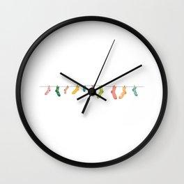 Socks line Wall Clock