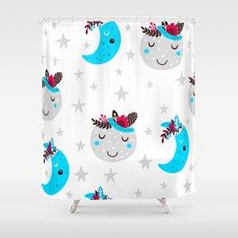 cute moon Shower Curtain