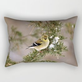 Professor Goldfinch Rectangular Pillow