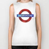 velvet underground Biker Tanks featuring Underground by Hipogrifos