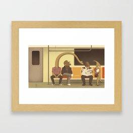 Dino Subway Framed Art Print
