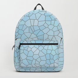 Abstract geometric glass shapes blue pattern Backpack