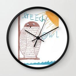 owl screech Wall Clock