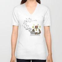 rap V-neck T-shirts featuring Gangst@#Rap by Saar Gil