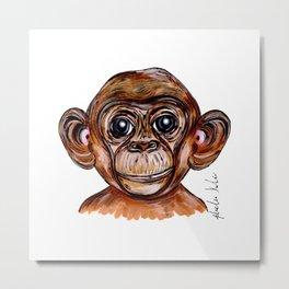 Mimi The Monkey Metal Print