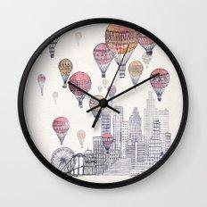 Voyages Over Santa Monica Wall Clock