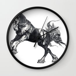 Keegan Jewell, Friesian Stallion Wall Clock