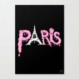 Paris is melting.... Canvas Print
