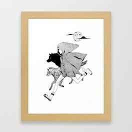 RUNNING WITH WOLVES Framed Art Print