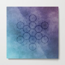 The Fruit of Life - Sacred Geometry Metal Print