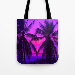 Pink Palm Trees by the Indian Ocean Tote Bag