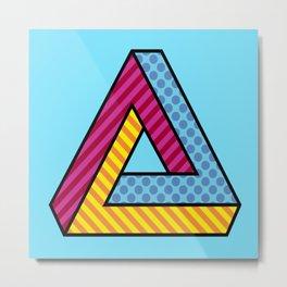 70s Abstract Penrose Metal Print