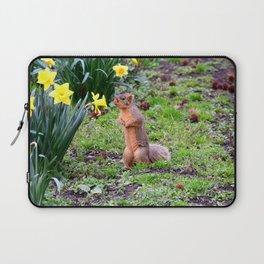 Flower-sniffing squirrel 2 Laptop Sleeve