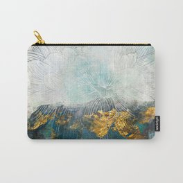 Lapis - Contemporary Abstract Textured Floral Carry-All Pouch