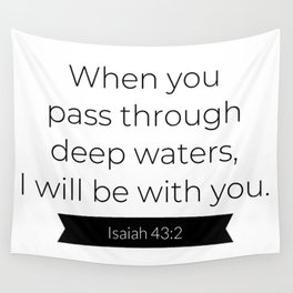 I Will Be With You - Christian Typography Wall Tapestry