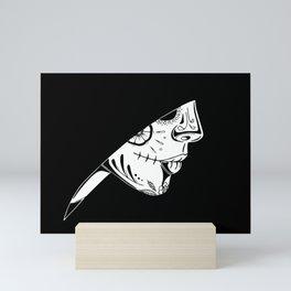 Hooded Sugar Skull Mini Art Print