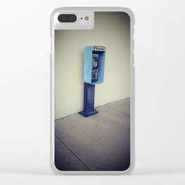 Vintage Pay Phone Photograph Clear iPhone Case