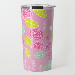 Belle Fleurs - bright roses Travel Mug