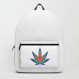 Weed Leaf Artwork   Marijuana 420 Gift Idea Backpack