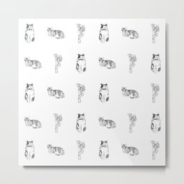 Cat Pattern Metal Print