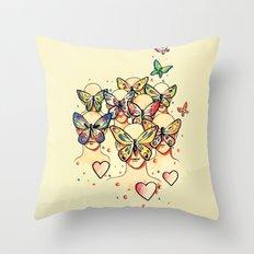 Butterfly Caught Throw Pillow