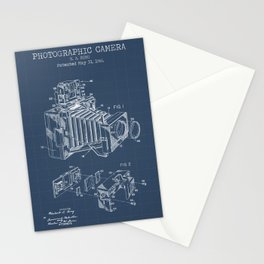 Photographic Camera blueprints Stationery Cards