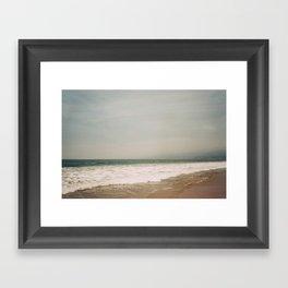 Santa Monica Beach Framed Art Print