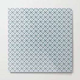 Blue Brassicas Metal Print