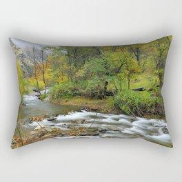 Autumn river at the mountains..... Rectangular Pillow