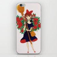 kiki iPhone & iPod Skins featuring Kiki by Javiera Esquer