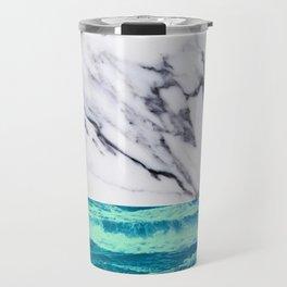 Marble Ocean iPhone Case and Throw Pillow Design Travel Mug