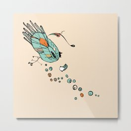 Clam Orange Metal Print