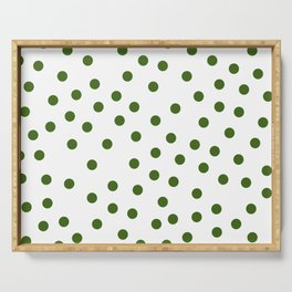 Simply Dots in Jungle Green Serving Tray