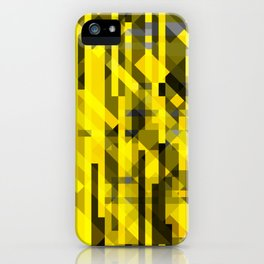 abstract composition in yellow and grays iPhone Case