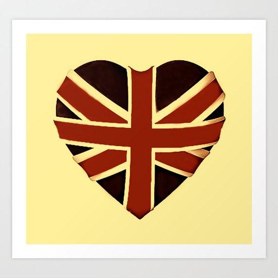 Vintage Union Flag ~ Love Art Print