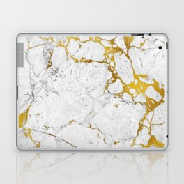 Gold on marble Laptop & iPad Skin