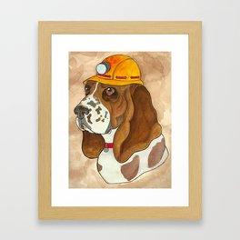 Digger Dog Framed Art Print