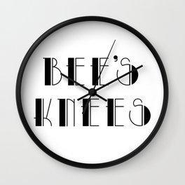 Bee's knees - vintage slang Wall Clock